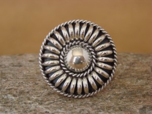 Navajo Indian Jewelry Sterling Silver Ring Size 6 Thomas Charley