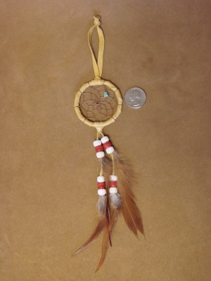 "Native American Handmade 2"" Dreamcatcher Navajo Indian"