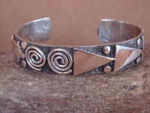 "Navajo Indian Sterling Silver 1/2"" Petroglyph Bracelet by Alex Sanchez!"