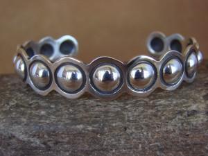 Navajo Indian Jewelry Sterling Silver Hand Stamped Bracelet by Alex Sanchez!