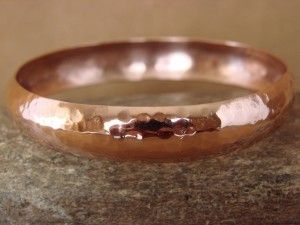 Native American Jewelry Hand Stamped Hammered Copper Bangle Bracelet