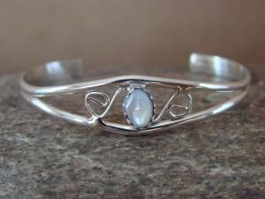 Navajo Indian Jewelry Handmade Sterling Silver Shell Baby Bracelet!