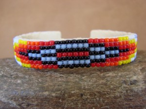 Native American Hand Beaded Bracelet by Lucille Ramone