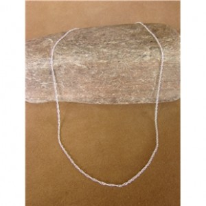 "Southwestern Jewelry Sterling Silver Chain Necklace 18"" Long x 1MM"