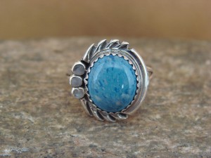 Navajo Indian Jewelry Sterling Silver Denim Lapis Ring Size 6.5 by Cadman