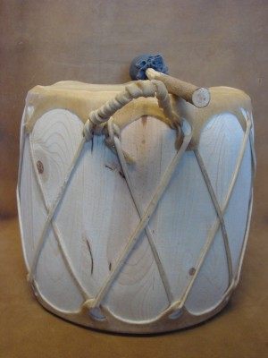 Handmade Native American Drum - Rawhide Skinned - DRM028