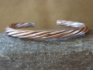 Navajo Native American Jewelry Handmade Copper Bracelet by Elaine Tahe