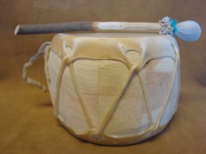 Handmade Native American Drum - Rawhide Skinned - DRM025