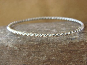 Navajo Indian Jewelry Sterling Silver Bangle Bracelet by Elaine Tahe!