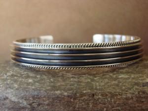 Native American Indian Jewelry Sterling Silver Bracelet by Darrell Yazzie!