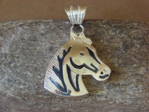 Native American Jewelry Sterling Silver Horse Pendant By A. Mariano