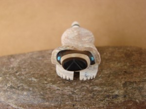 Zuni Indian Hand Carved Fish Rock Raccoon Fetish by Suzette Lementino!