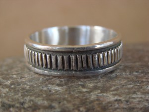 Native American Jewelry Sterling Silver Ring Band, Size 12.5 by Bruce Morgan!