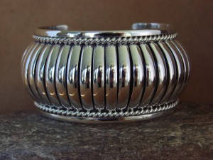 Navajo Indian Jewelry Handmade Sterling Silver Bracelet by Thomas Charley