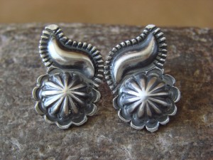 Navajo Indian Sterling Silver Post Earrings by Annie Spencer