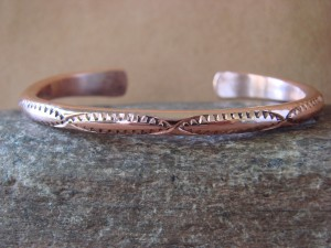 Navajo Native American Jewelry Handmade Copper Bracelet by Elaine Tahe! 7