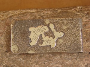 Navajo Indian Jewelry Hand Etched Rabbit Money Clip! R. Begay