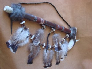 Native American Navajo Indian Handmade Antler Peace Pipe