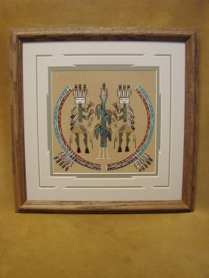 Native American Indian Authentic Navajo Sandpainting by Sampson McDonald