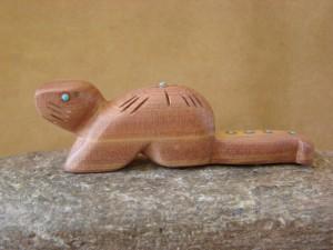Zuni Indian Carved Cedar Otter Fetish by Brandon Phillips! Native American
