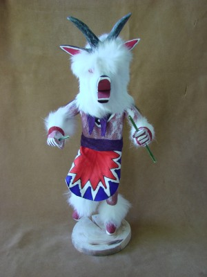 Navajo Indian Handmade Goat Kachina Dancer by V. Tom!