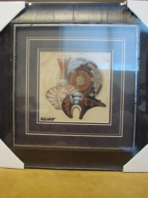 Native American Indian Authentic Navajo Sandpainting by Michael Watchman