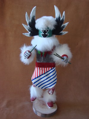 Navajo Indian Handmade Mother Pearl Kachina Dancer by V. Tom!
