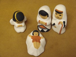 Acoma Indian Native American Hand Painted Nativity Set by Shirly Chino