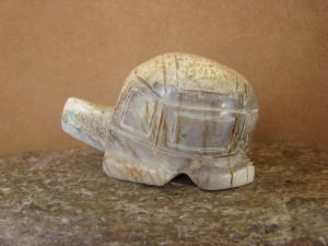 Zuni Indian Hand Carved  Antler Turtle Fetish by Brandon Phillips!