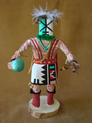 Navajo Indian Handmade Rattle Runner Kachina Dancer by C.B!