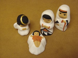 Acoma Indian Native American Hand Painted Nativity Set by Shirly Chino