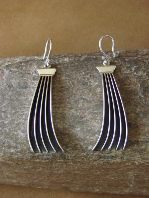 Navajo Indian Handmade Sterling Silver Dangle Earrings! By James Bahe