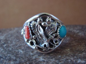 Navajo Indian Sterling Silver Handmade Eagle Ring by Yazzie! Size 12 1/2