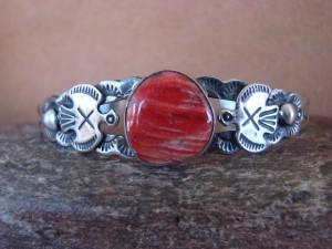 Native American Jewelry Sterling Silver Spiny Oyster Thunderbird Bracelet! Lester James