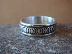 Native American Jewelry Sterling Silver Ring Band by Bruce Morgan! Size 11