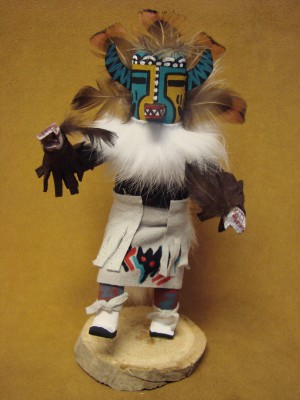 Native American Navajo Indian Handmade Hototo Badger Kachina Dancer