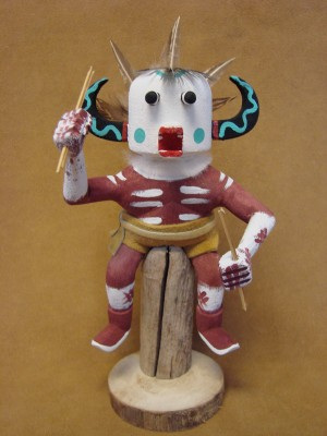 Native American Navajo Indian Handmade White Ogre Kachina Dancer! by Benally