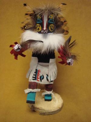 Native American Navajo Indian Handmade Badger Kachina Dancer