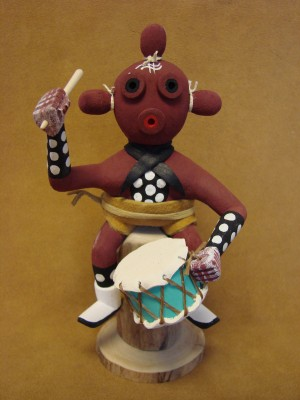 Native American Navajo Indian Handmade Mudhead Kachina Dancer! by Benally