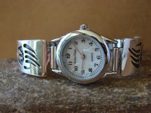 Native American Indian Jewelry Sterling Silver Bear Paw Lady's Watch