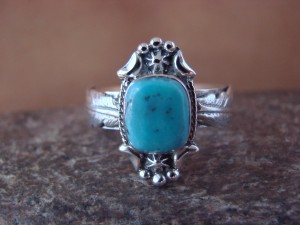 Native American Jewelry Sterling Silver Turquoise Ring! Size 9 Platero