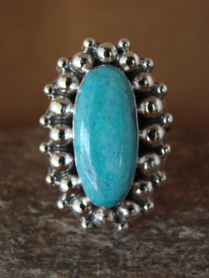 Native American Jewelry Sterling Silver Turquoise  Ring! Size 10