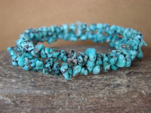 Navajo Indian Jewelry Handmade Turquoise Coil Bracelet!