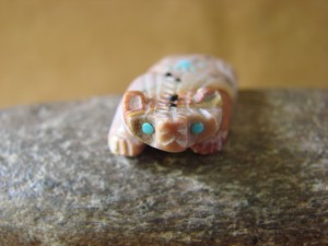 Zuni Indian Hand Carved Dolomite Badger by Danette Laate!