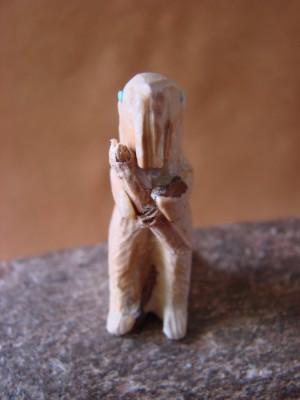 Zuni Indian Hand Carved Dolomite Beaver by Jerrold Lehaleon!