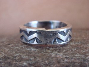 Native American Jewelry Sterling Silver Handstamped Ring! Size 11