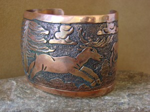 Native American Jewelry Copper Storyteller Bracelet by Elaine Becenti