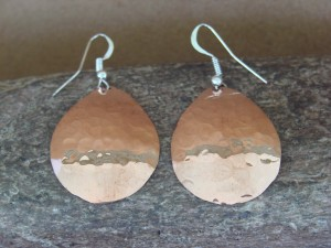 Native American Jewelry Hand Stamped Copper Earrings by Douglas Etsitty!