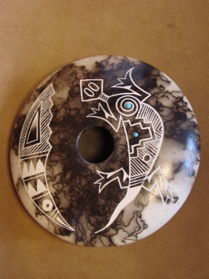Native American Indian Pottery Horse Hair Pot by Eric Louis! Acoma
