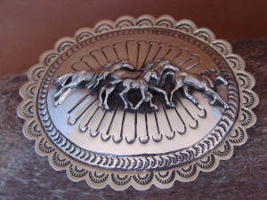 Navajo Indian Jewelry Sterling Silver Horse Belt Buckle Carson Blackgoat